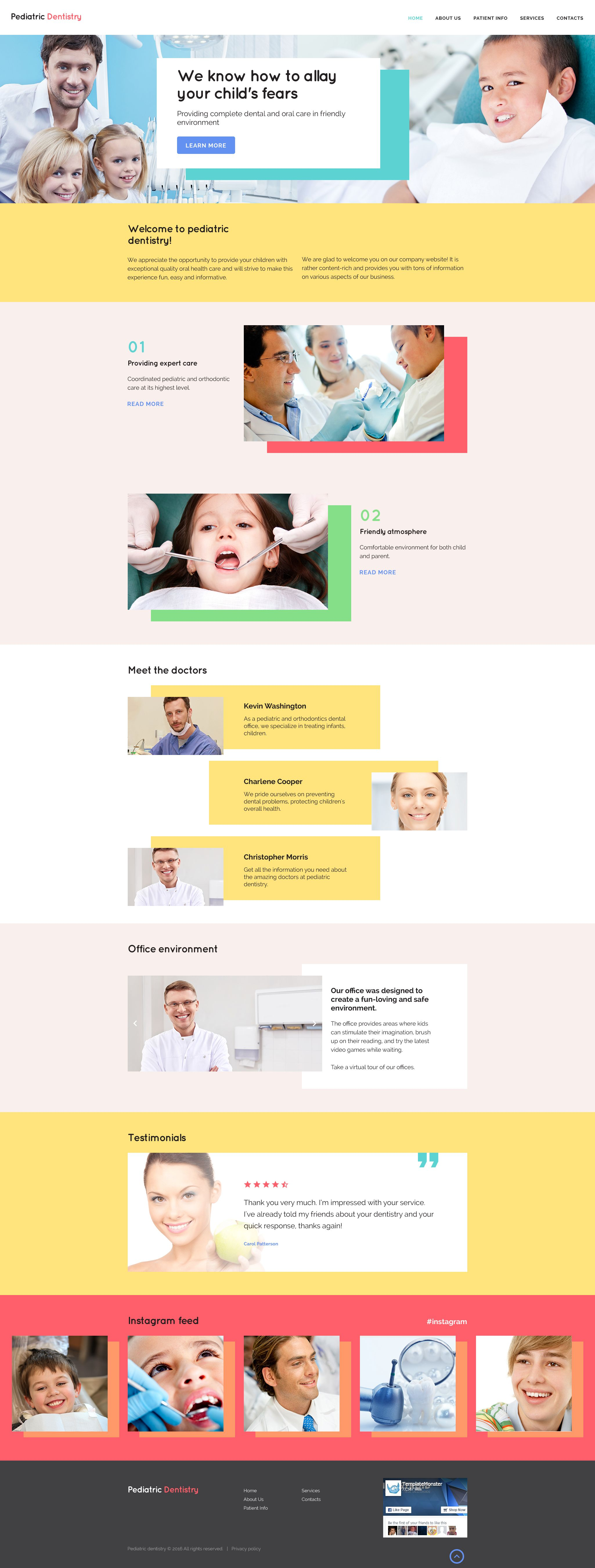 Dentistry Site Template In 2020 Template Site Website Template Pediatric Dentistry
