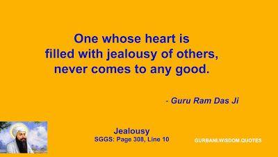 gurbani wisdom quotes sggs quote guru ram das ji jealousy