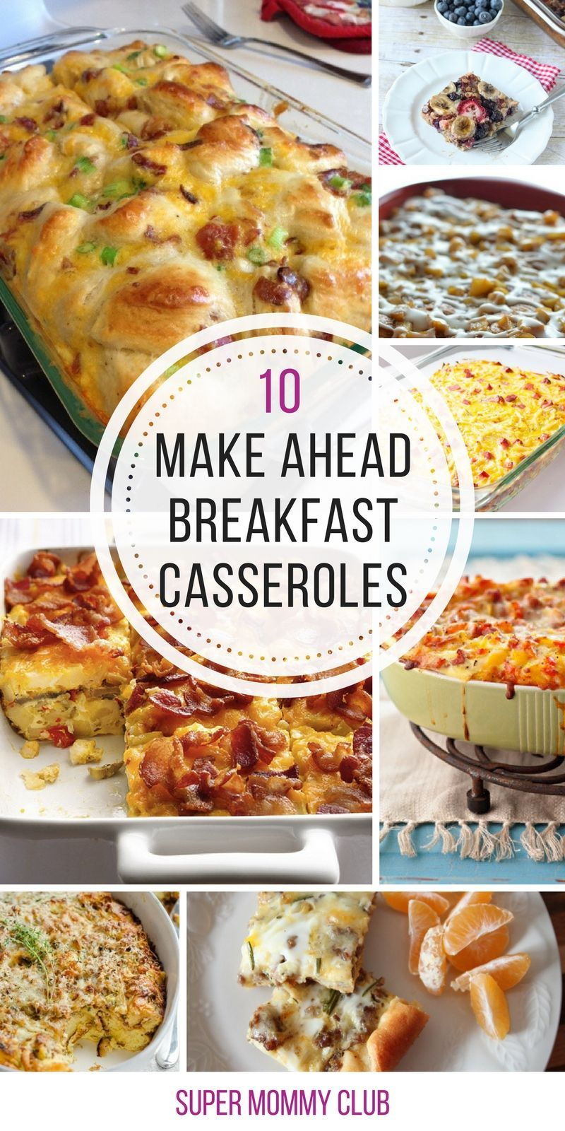 so many yummy breakfast casserole ideas here that are perfect for a
