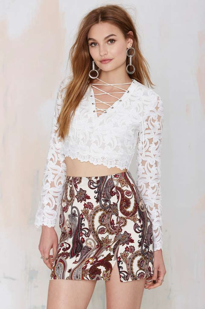 a27240a64 A little lace for just in case   ) The Just in Lace Sheer Top is the ...