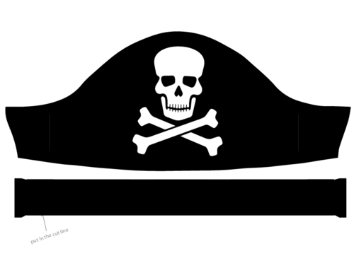 A Pirate S Hat By Talekids Simple Pirate Hat With Crossbones On Openclipart Pirate Hats Pirates Hats
