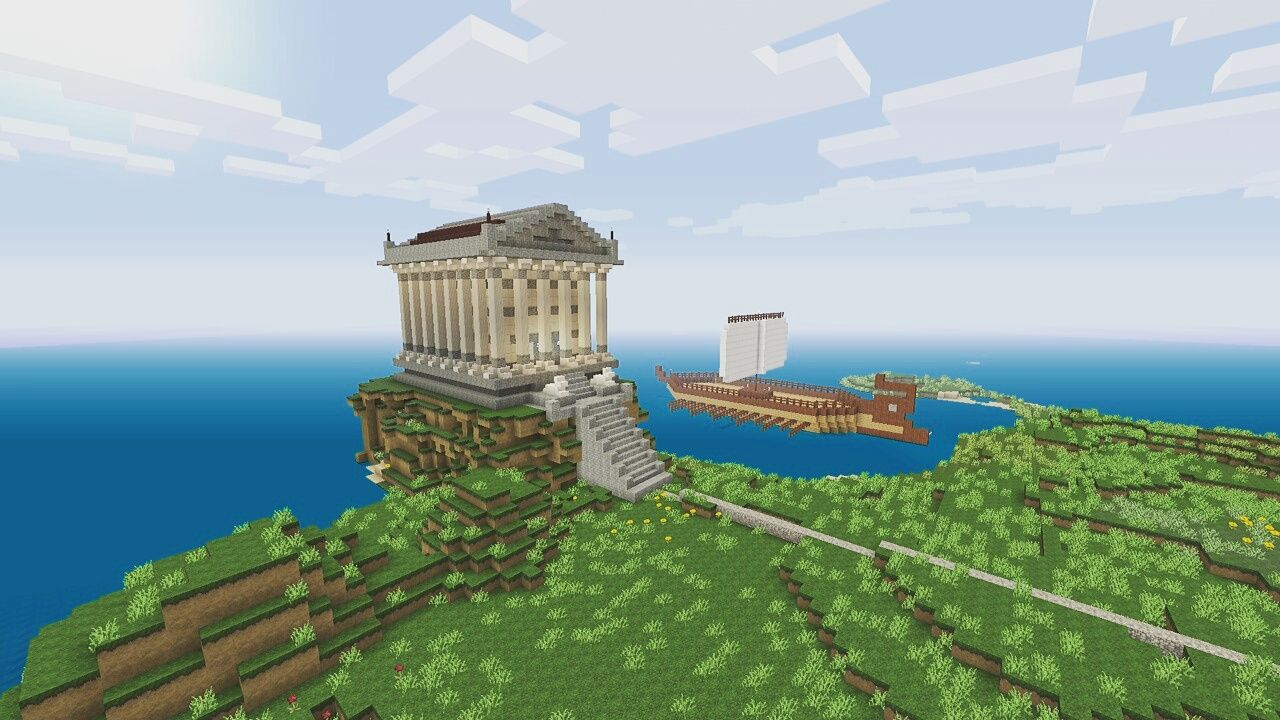 Built A Greek Temple In Minecraft After I Bought A Book On How To