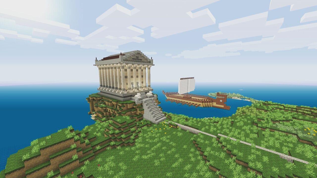 Древнегреческие постройки в minecraft