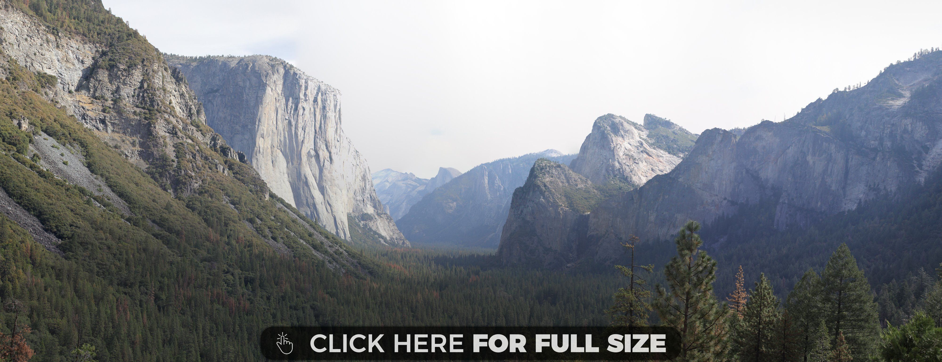yosemite national park california at tunnel overlook wallpaper
