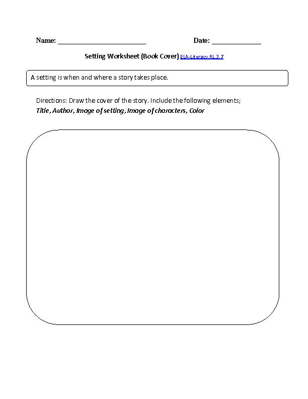 Setting Book Cover ELA-Literacy.RL.3.7 Reading Literature ...