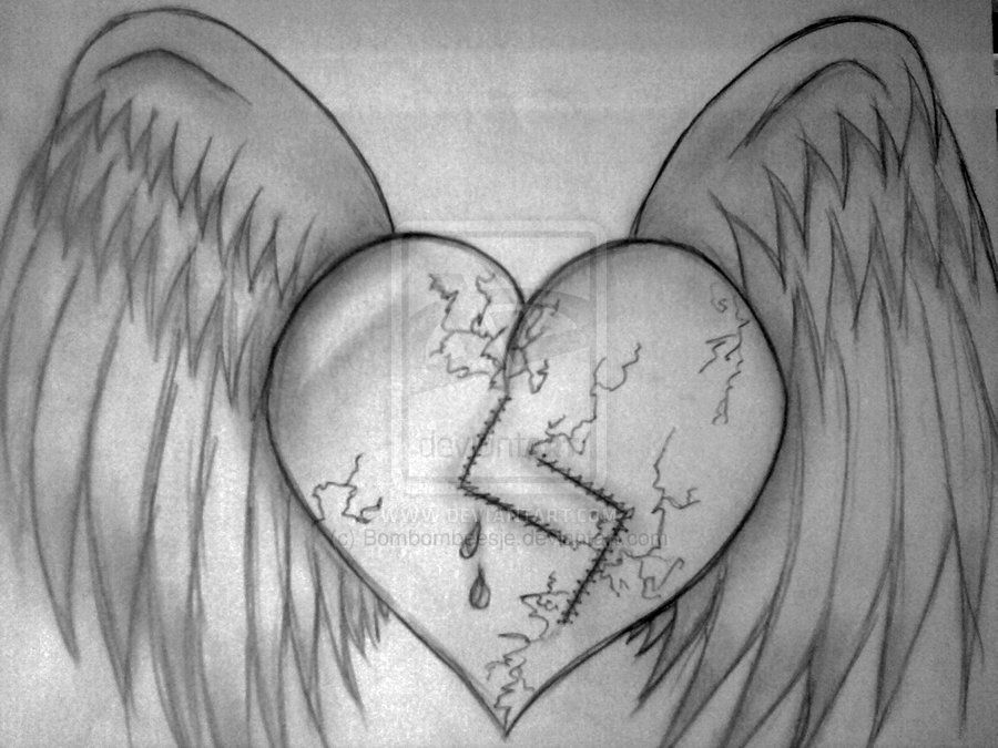 Healing Heart Drawing Broken Heart To Draw The Broken Heart Is