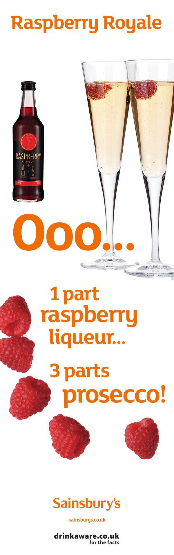 Sainburysrecipes Cocktails Raspberryliqueur Bitters Sainsburys Prosecco Homemade Drinks Food And Drink Yummy Drinks