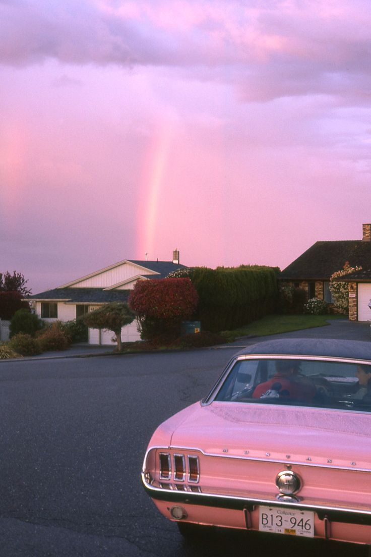 Vintage Car And A Pink Sunset What S Better With Images Pink