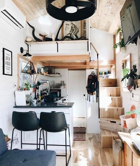 Family of Three Live and Work in 28ft Tiny Home