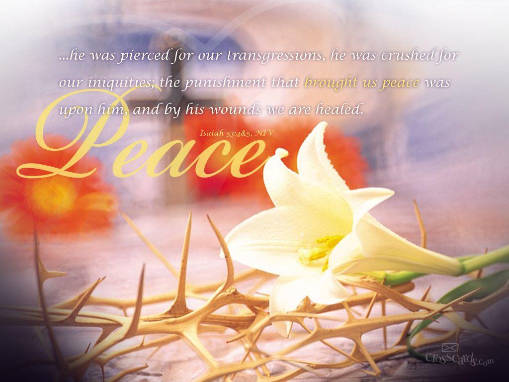 Isaiah 53 4 5 Easter Wallpaper Scripture Verses Easter Lessons