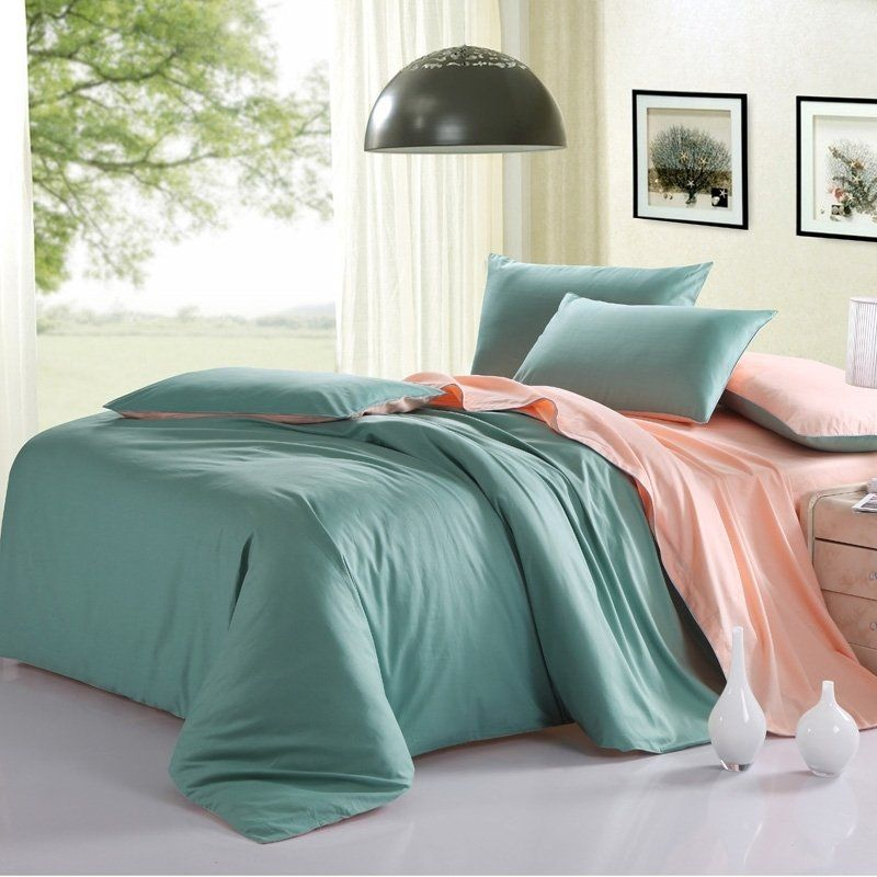 Simply Modern Chic Plain Sage Green And Solid Blush Pink Girls 100 Organic Cotton Twin Bedding And Curtain Sets Sage Green Bedding Set King Size Bedding Sets