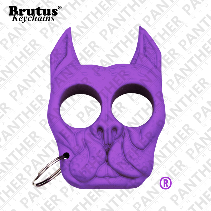 Brutus the Bull Dog Public Safety Keychain Purple