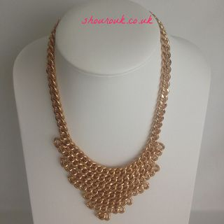 Chained  Statement Chain Necklace Bang on Trend !  Slightly Heavy