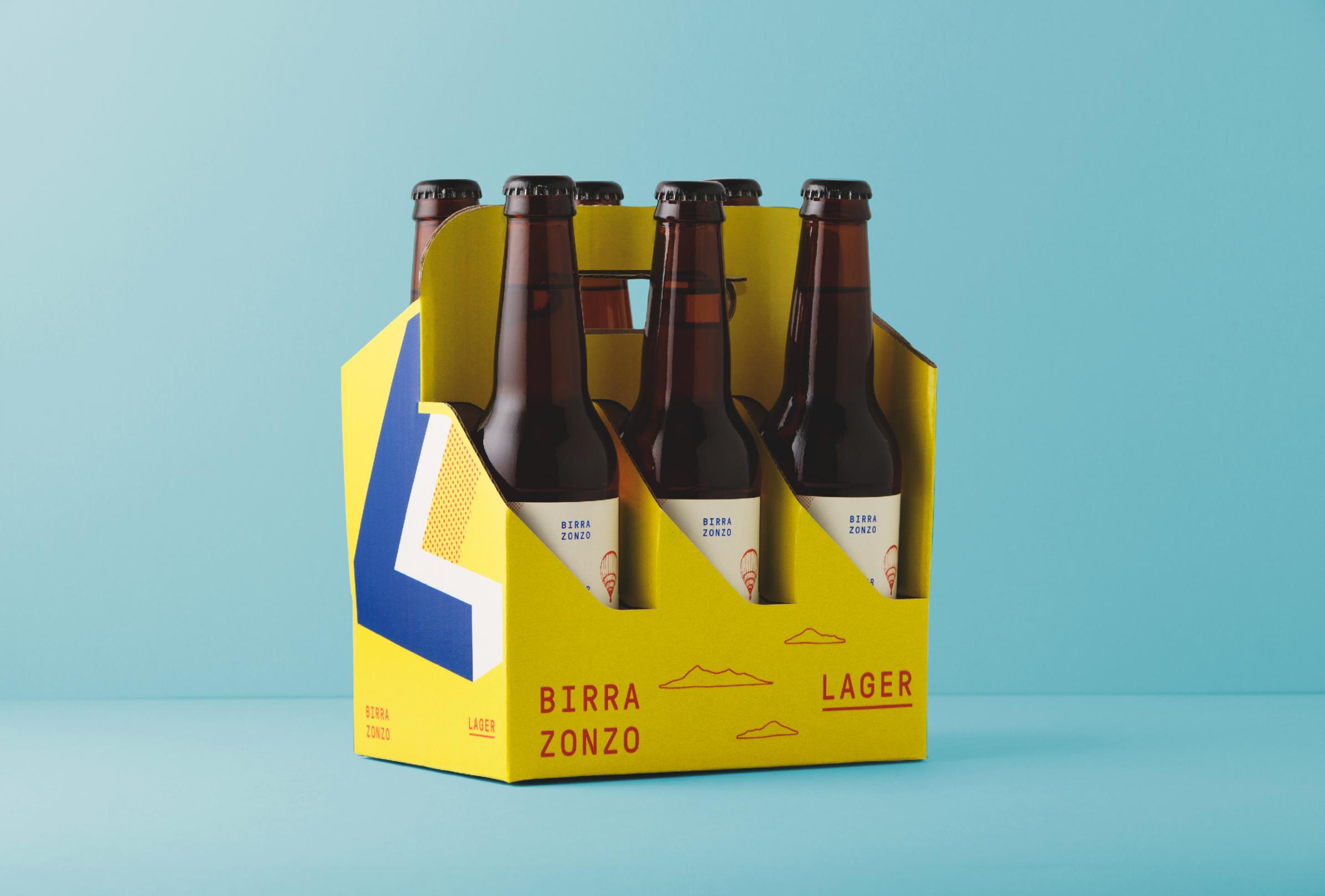 Birra Zonzo Packaging Design Illustation And Brand Identity Beer Packaging Packaging Design Carton Design