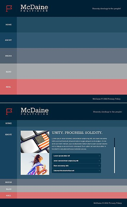 Political Candidate Website Template  Template Design Websites And