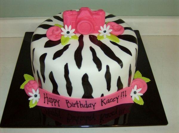 Zebra and Camera cake