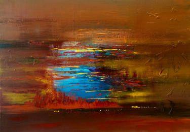 "Saatchi Art Artist Mo Tuncay; Painting, ""Blue winter"" #art"