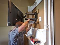 How To Build A Tv Wall Mount Frame Wall Mounted Tv Tv Over