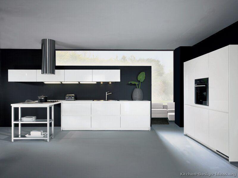 Kitchen Idea Of The Day Modern White Kitchens By Alno Ag Classy White Penins White Modern Kitchen Kitchen Ceiling Design Modern White Kitchen Cabinets
