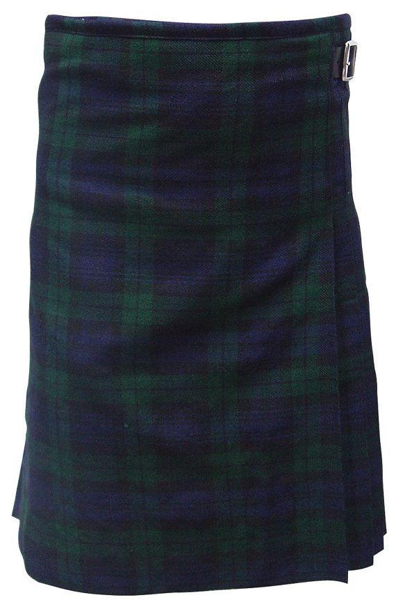 Scottish Highland Kilt Black Watch Tartan 3 Buckles by ahrproducts, $39.99