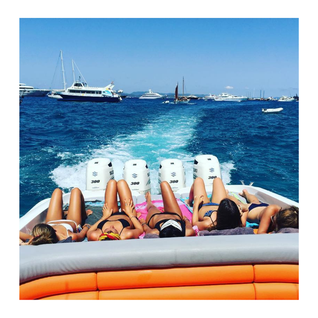 Looking For The Perfect Spot For Your Summer Getaway Ibiza Is The Place To Be Let Your Girlfriends Know That You Can Also Rent Summer Getaway Yacht Life Boat