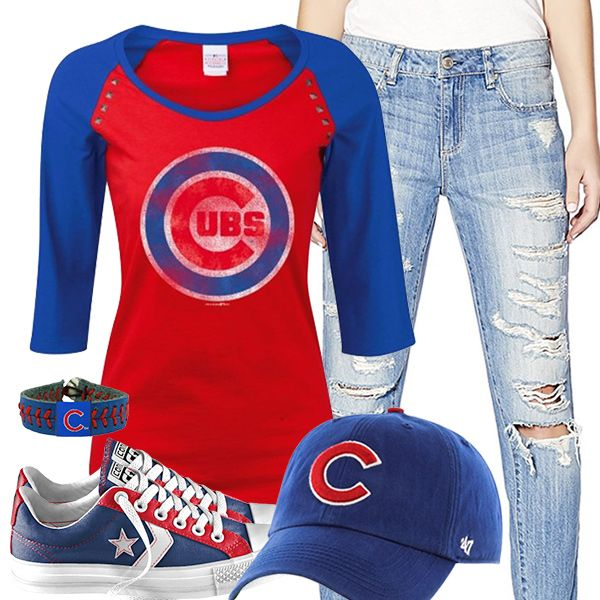 Chicago Cubs Converse Outfit | Chicago Cubs Fashion, Style, Fan Gear ...