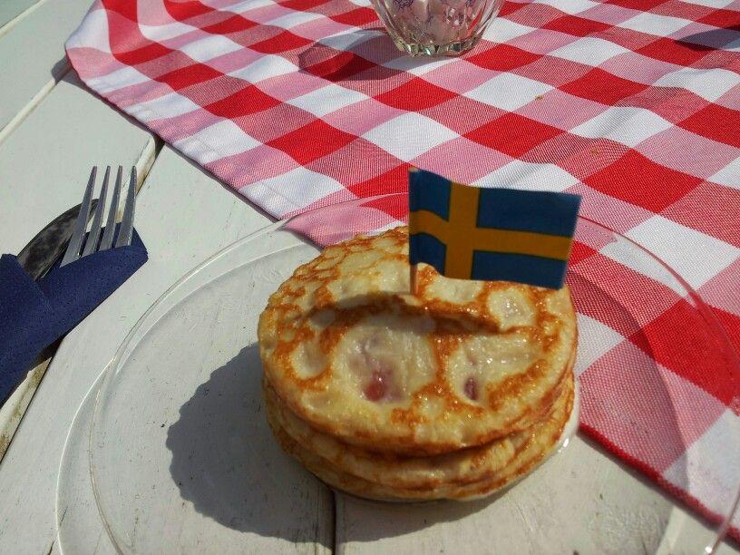 Swedish pancake-cake