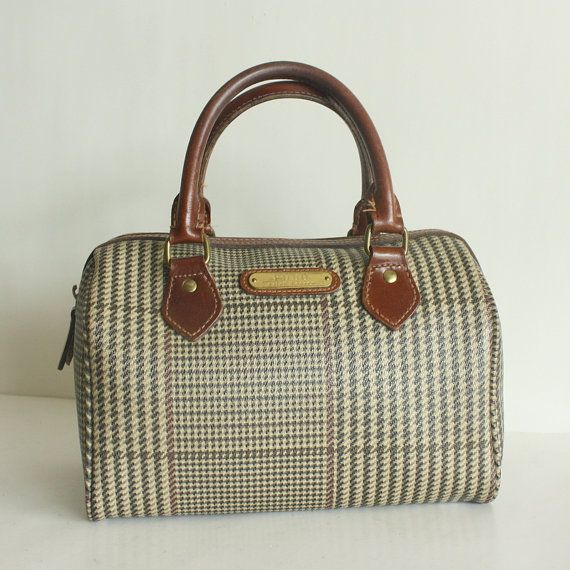 Ralph Lauren Houndstooth Bag in brown- My mum had one when I was little and  took it everywhere. On night we were at a gas station and it just diapered. 4f14a4702681e