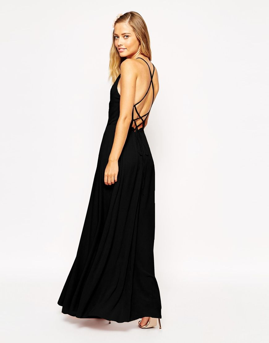 e5eb2fb297d Image 1 of ASOS Maxi Dress with Tie Back