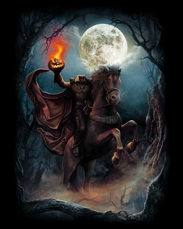 Headless Horseman Headless Horseman Headless Horseman Halloween Halloween Artwork