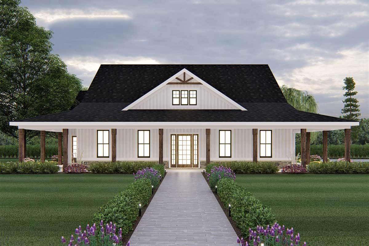 Plan 149004and Exclusive Ranch Home Plan With Wrap Around Porch In 2021 Ranch House Plans Porch House Plans Wraparound Porch House Plans