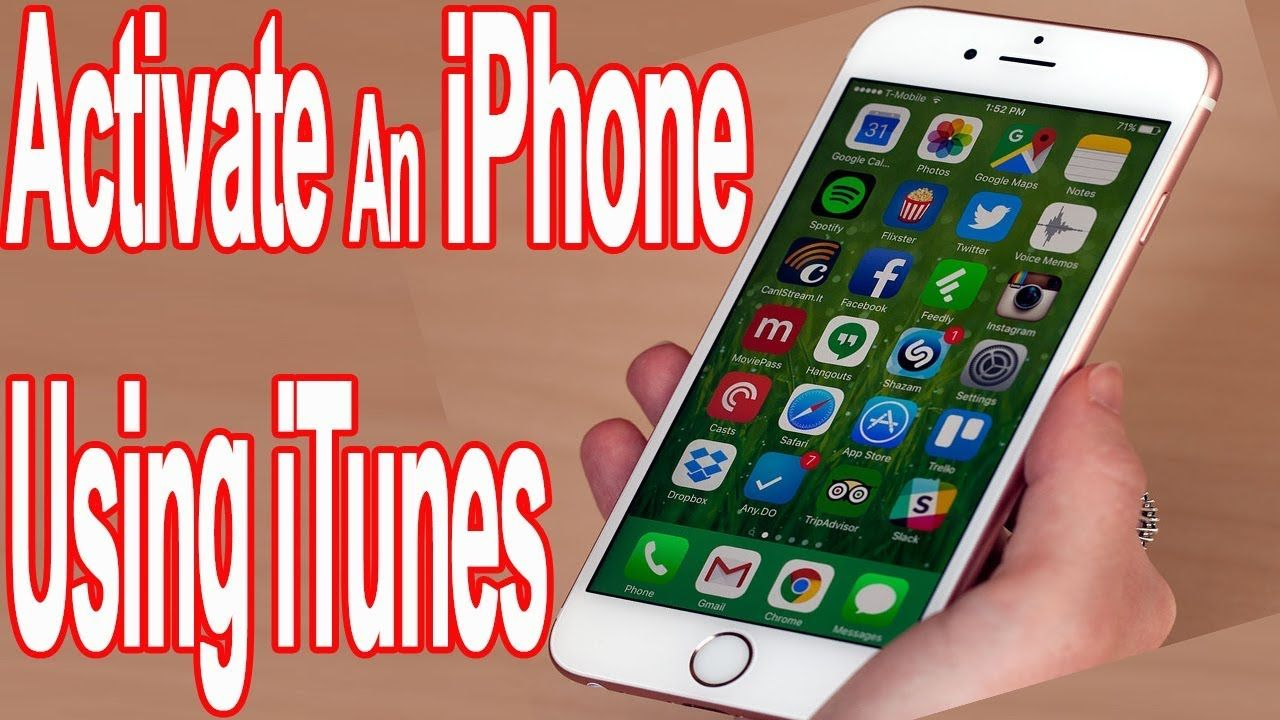 How to activate an iphone using itunes iphone itunes