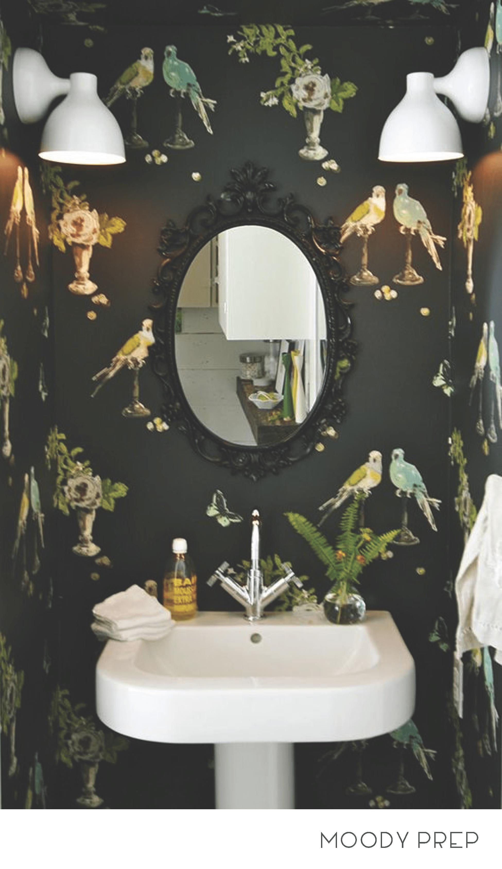 Preppy Style 9 Different Ways Master Bathroom Makeover Bathroom Makeover Bathroom Wallpaper