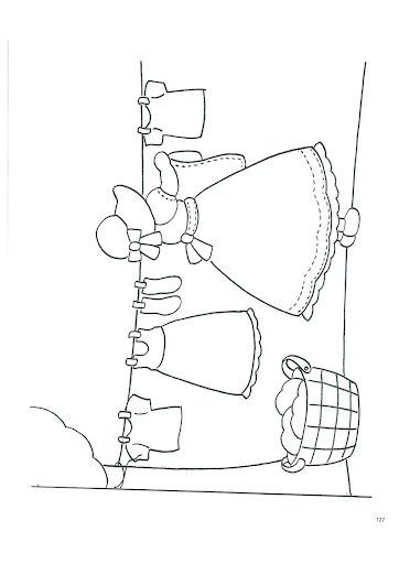 Sunbonnet sue hanging laundry embroidery pattern or for Laundry coloring pages
