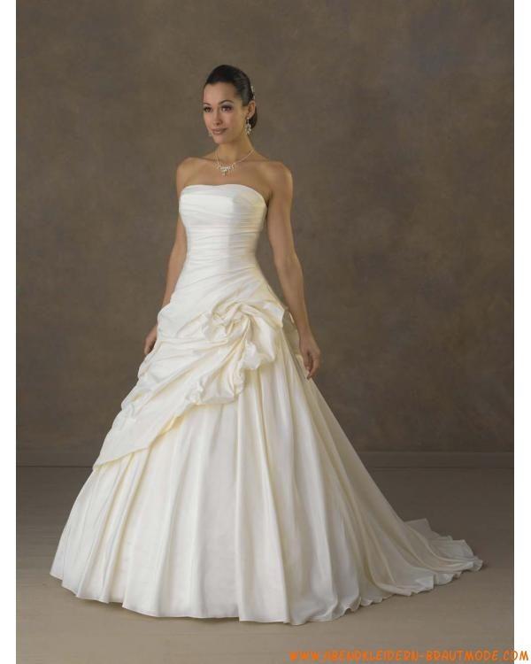 2012 Romantische elegante Brautkleider aus Taft mit Ruffle mit ...