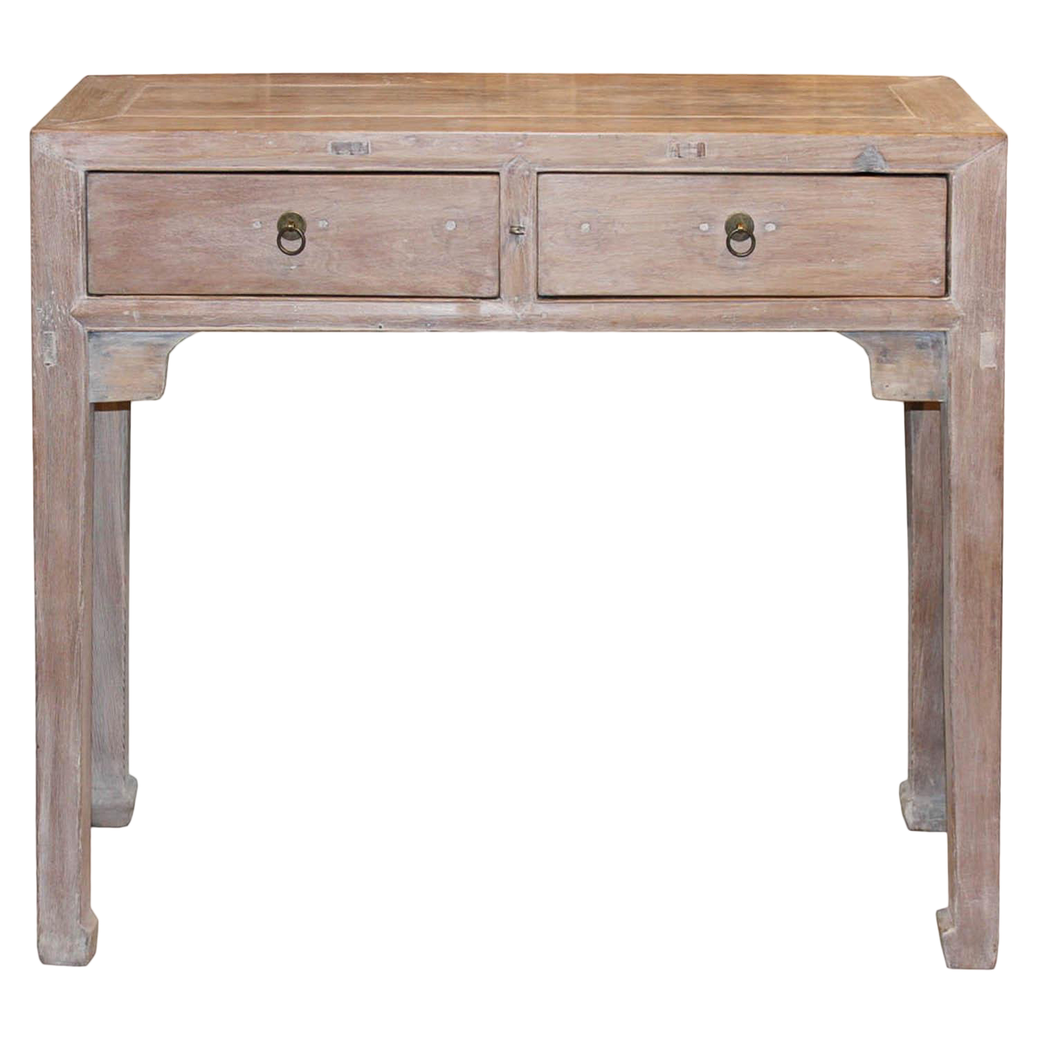 1920s Asian Elm Two Drawer Console Table On Chairish Com Console