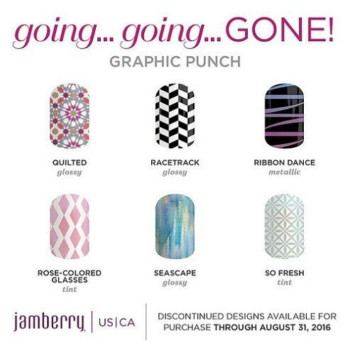 It's that time of year again when styles get discontinued. To view them all go to stinabella.jamberry.com. #jamberry #goinggoinggone
