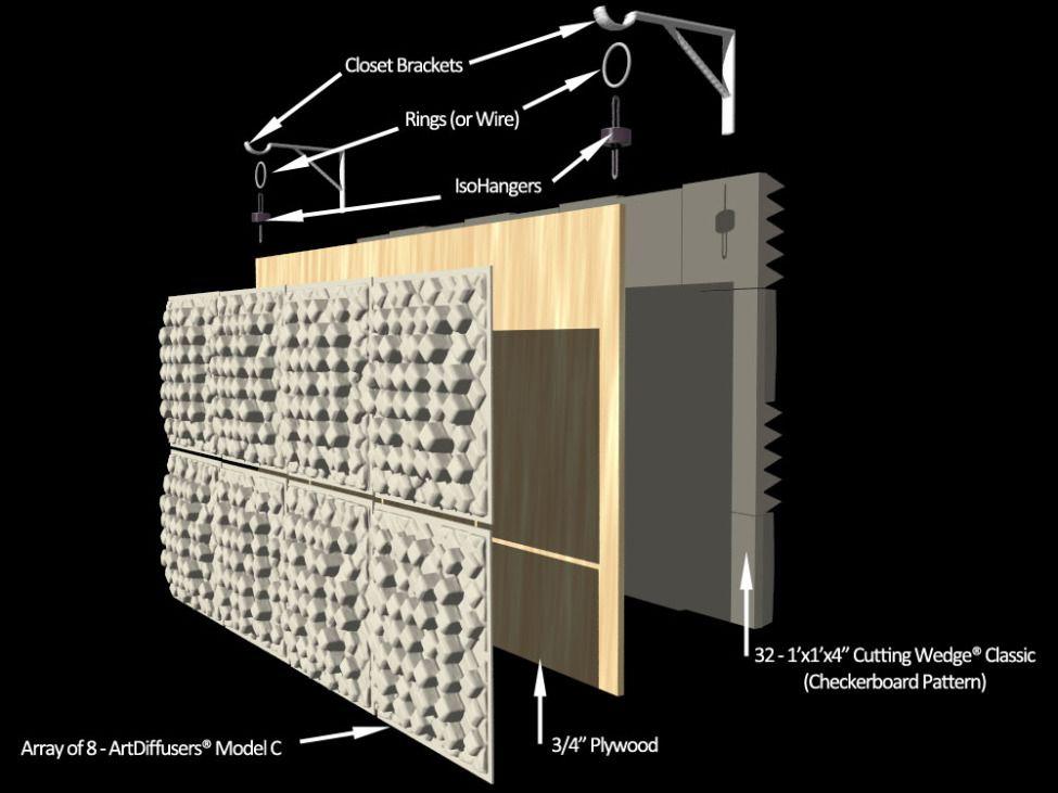 bass trap foam diffuser decon front ลำโพง