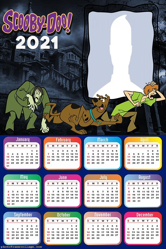 Scooby Doo Calendar 2021 Scooby Doo Scooby Framed Photo Collage
