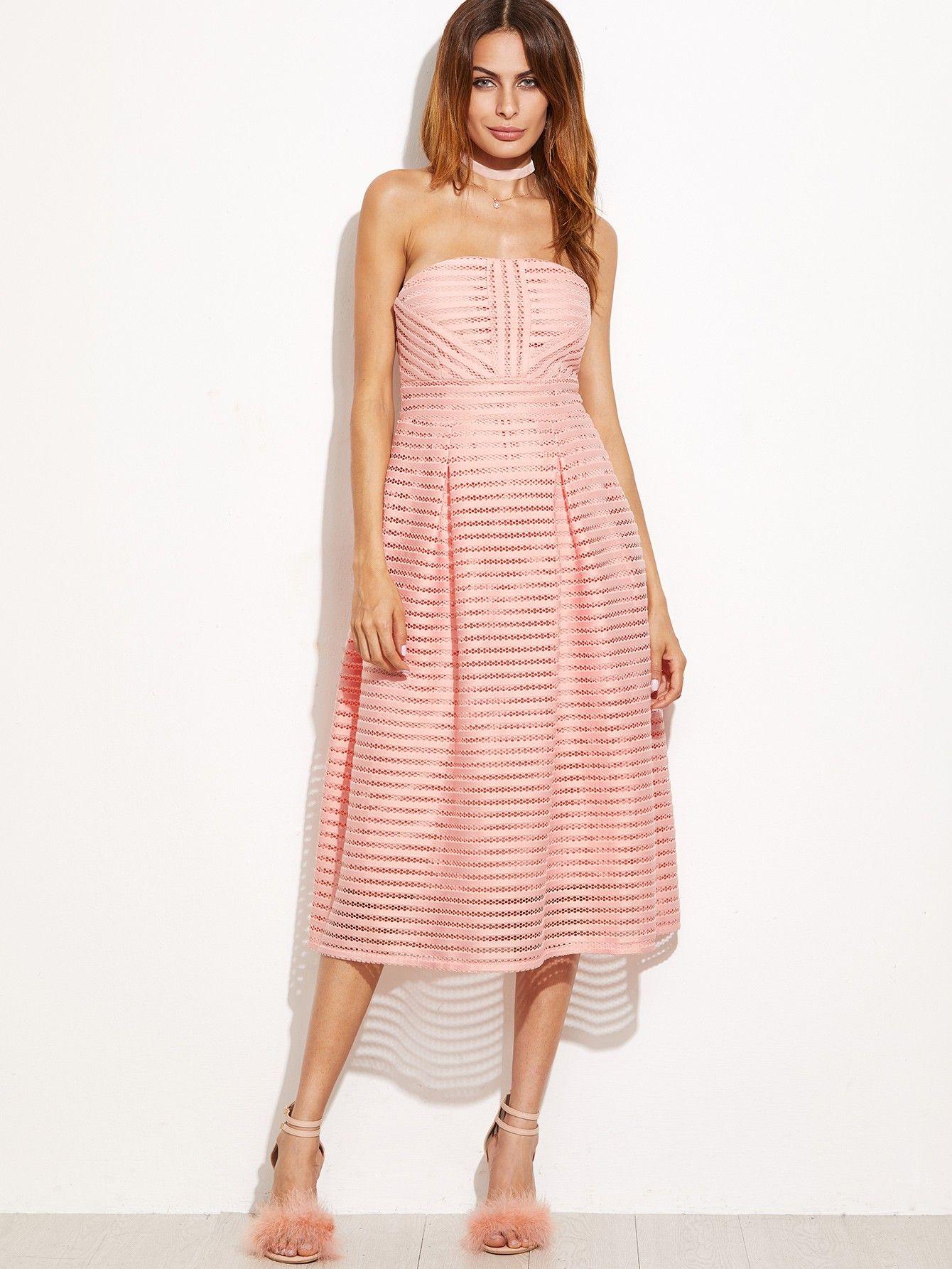 Trägerloses Kleid 2017 Rosa | Kleider 2017 | Pinterest | Trägerloses ...