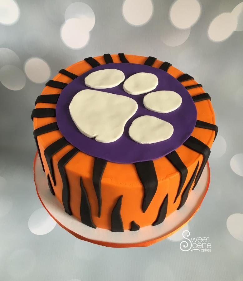 Clemson Grooms Cake Cake By Sweet Scene Cakes Clemsoncake