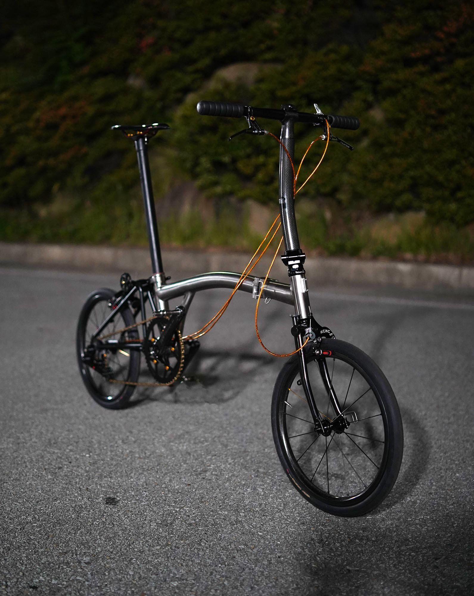 My Wife S Full Titanium Brompton Clone Bike Forums Raxel Brompton Bicycle Brompton Titanium Bike