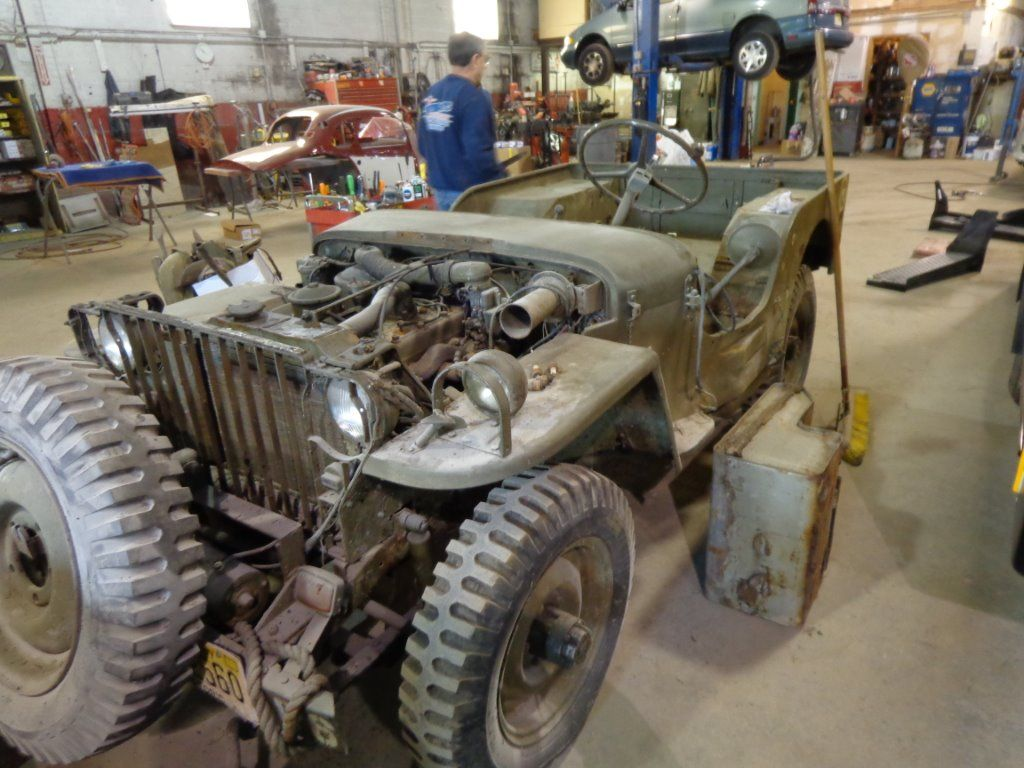 Restoration Is Underway On This 1941 Willys Mb Us Army Jeep With A