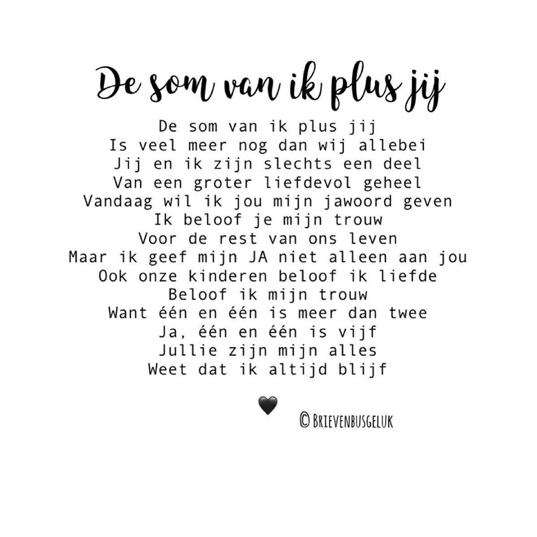 Brievenbusgeluk Op Instagram De Som Van Ik Plus Jij