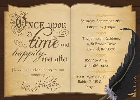 story book baby shower invitation book themed baby shower