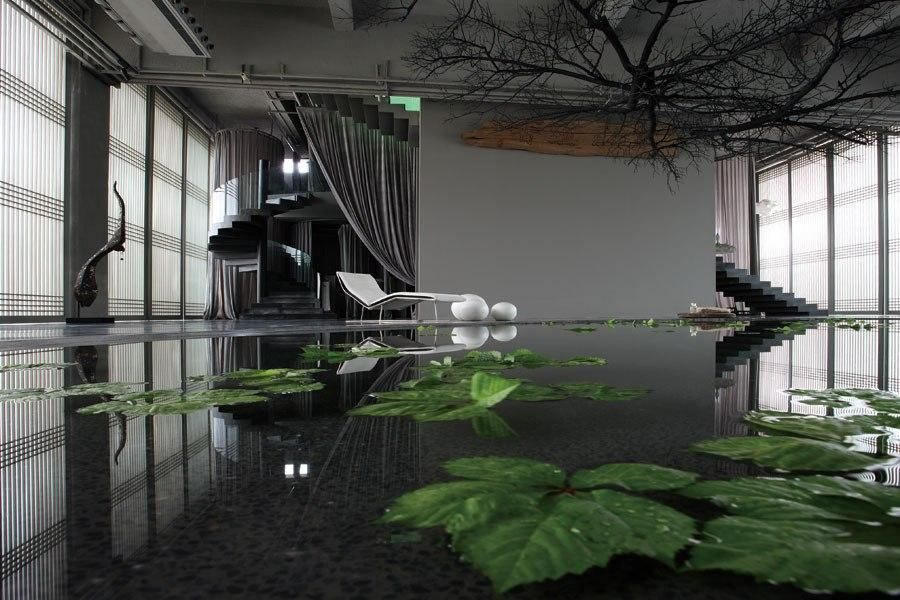 Green T. House Living Bath House Residence / Spa interior design ...