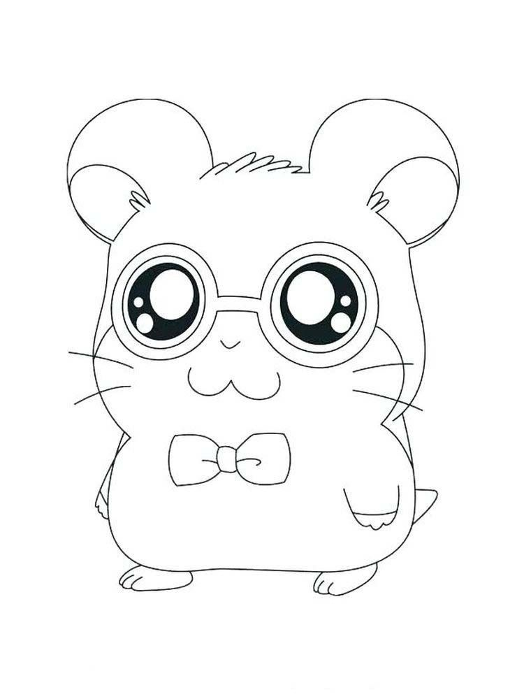 Printable Baby Animal Coloring Pages Dwarf Hamster In 2020 Animal Coloring Pages Animal Coloring Books Pokemon Coloring Pages