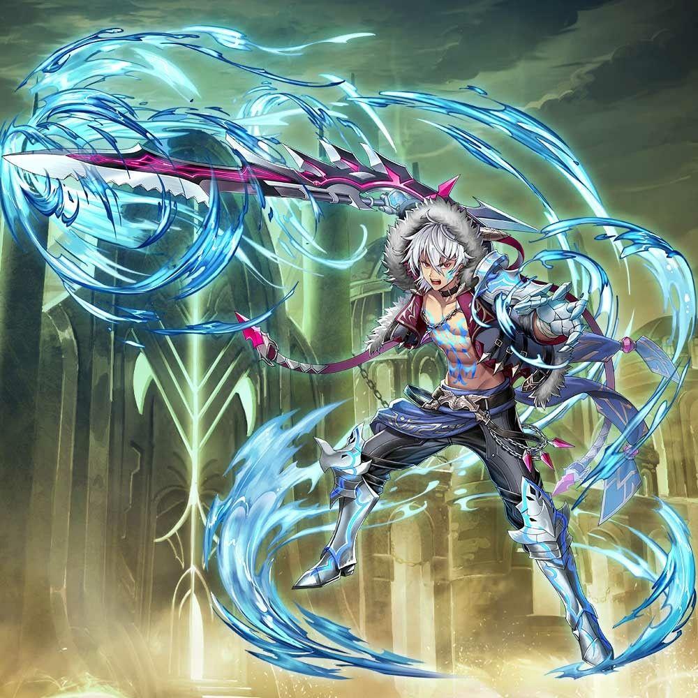 awakened vidar illustration by ateam he appears in valkyrie connect anime warrior anime art girl boy art
