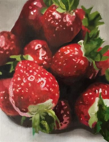 "Daily Paintworks - ""Strawberries"" - Original Fine Art for Sale - © John Cameron"