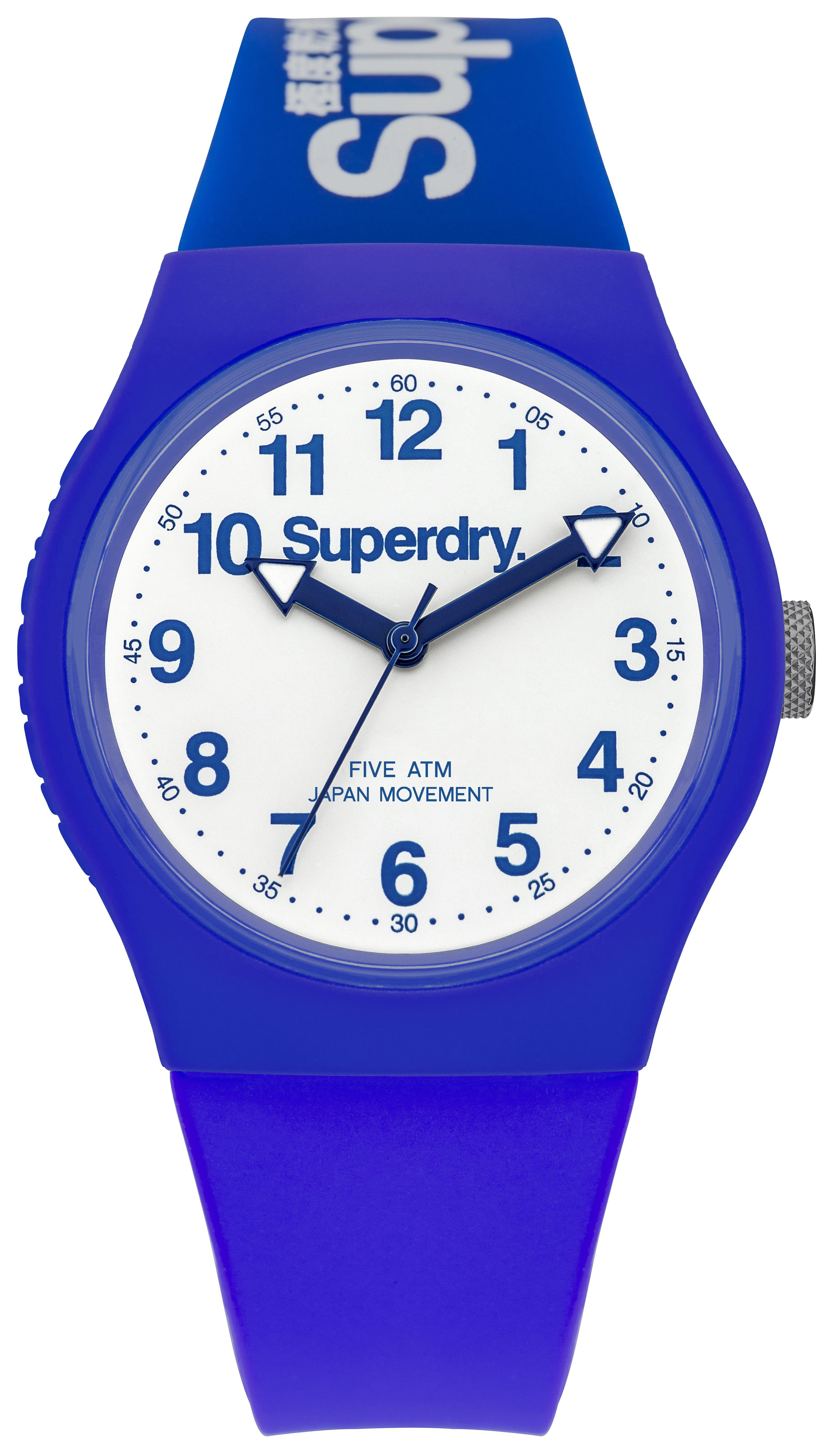 Superdry SYG164U Urban Blue Silicone Strap Watch
